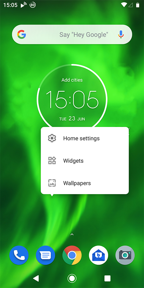 get the app and add the widget to your home screen