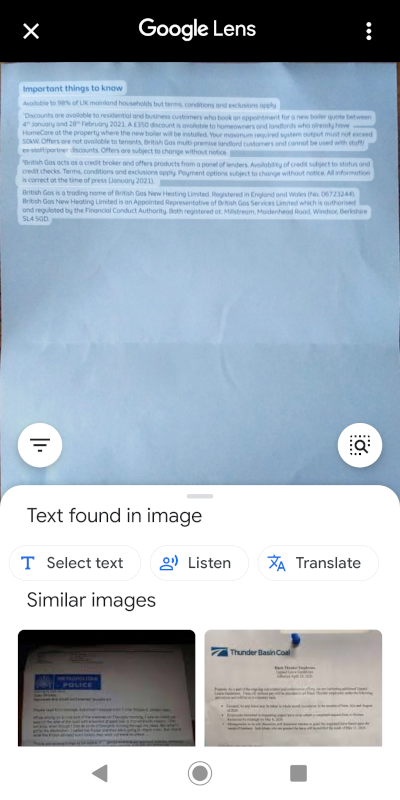 Select your text and copy
