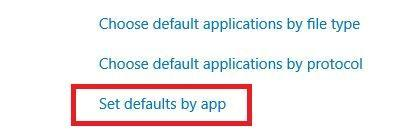 Selecting the default by program