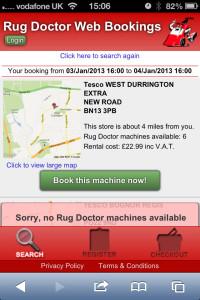 Web App Design: Rug Doctor Web App