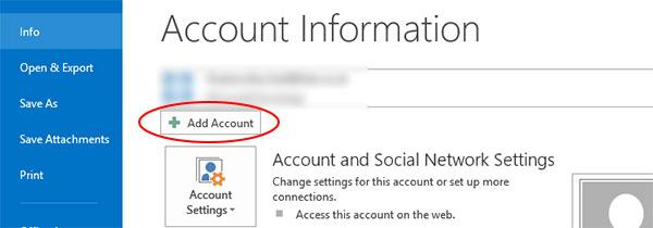 "Step 2: Click the ""Add Account"" button"
